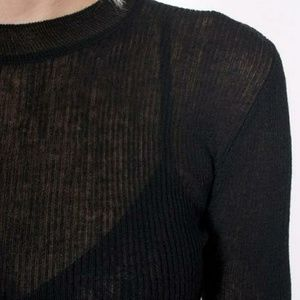Achro Sweaters - Achro ribbed knit top