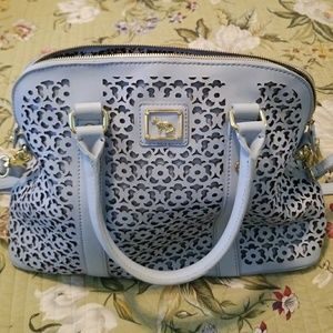 Light Blue Leather Bag (New Never Used) HSN