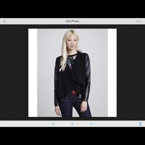 NWOT Ted Baker Galton Leather Trim Jacket size 0