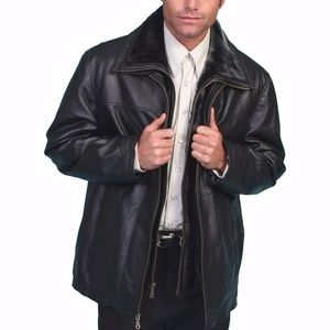 GIFTS FOR HIM! Scully Leather Jacket Black Lamb