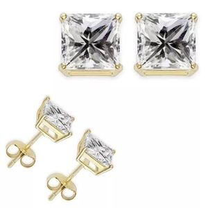 Jewelry - 5mm 1 carat cubic zirconia good stud earrings
