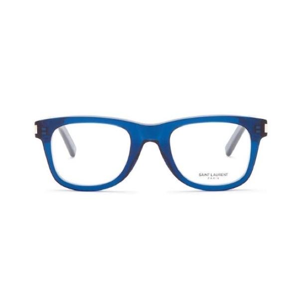 3a0d657ecd Yves Saint Laurent Blue Acetate Eyeglasses Frame