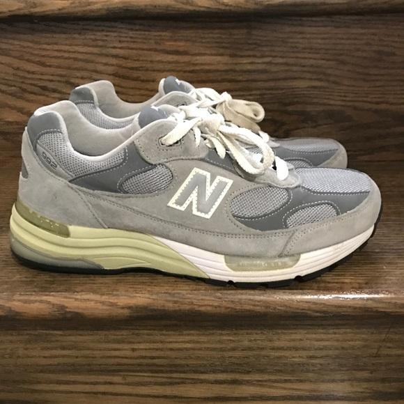 Men New Balance 992 Classic Grey Running Shoes 8.5