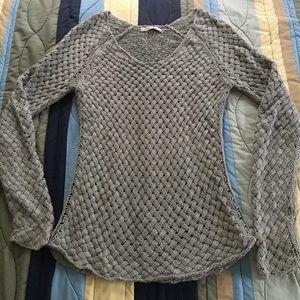 Grey Woven Sweater