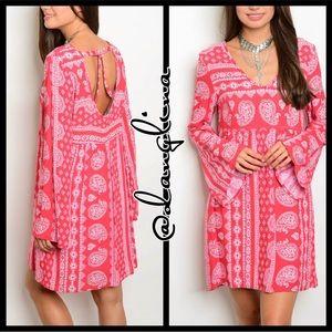 Belled sleeve dress