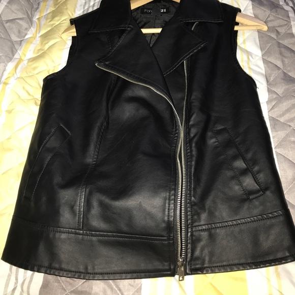 Leather Vest Forever 21