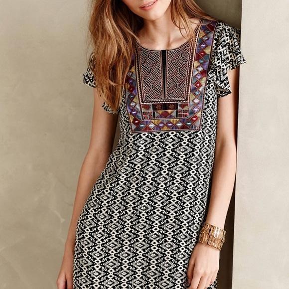1d758d6483bd Anthropologie Dresses & Skirts - Anthropologie Maeve Aleteo Print Embroidered  Dress