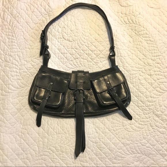 Burberry  black vintage shoulder bag like new