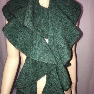 Accessories - Jade green designer scarf from Paris