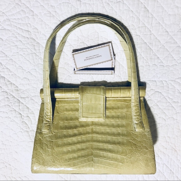 SOLD Nancy Gonzalez crocodile handbag with tag