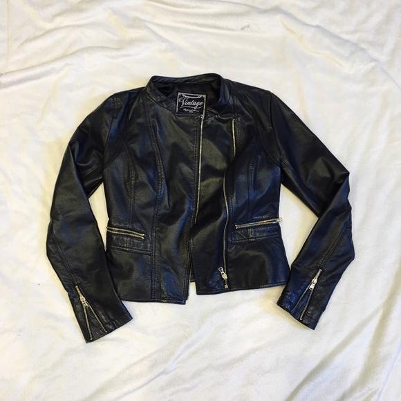New Look Jackets Coats Vintage Leather Jacket Poshmark