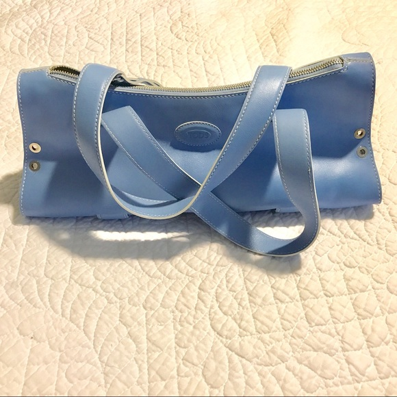 Tods blue leather bag