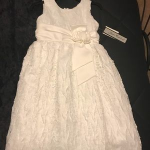 Other - NWT White satin with lace overlay dress