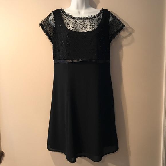 883c879bab6d Dress Barn Dresses & Skirts - Dress Barn black sequin & lace top dress. Size