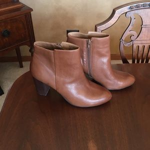 NWT 14th & Union brown leaguer ankle booties