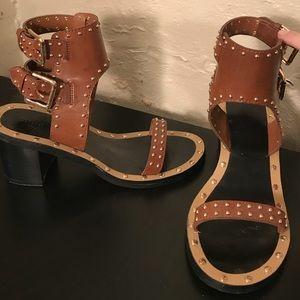 Studded Heeled Sandals
