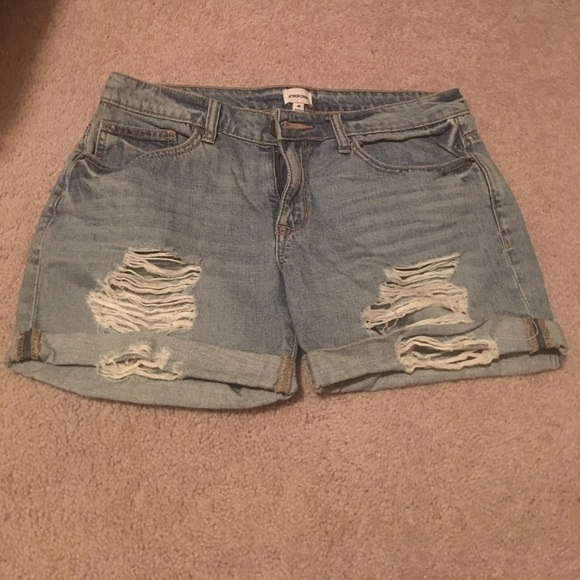 Sneak Peek Pants - Destroyed Boyfriend Shorts