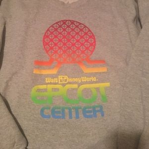 Tops - Disney World Epcot Throwback Sweatshirt