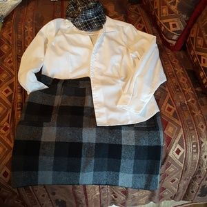 Plaid flannel  lined skirt