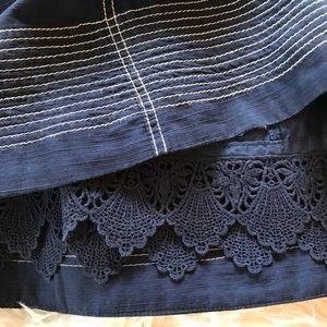 Anthropologie Maeve Sailor Style Cotton Dress