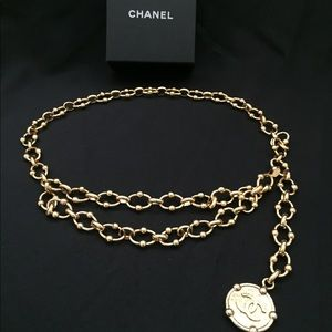 Chanel gold chain belt