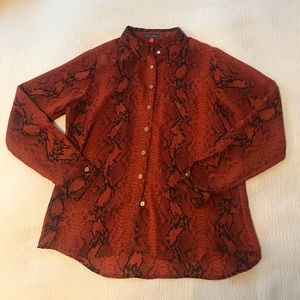 Vince Camuto snakeskin printed blouse