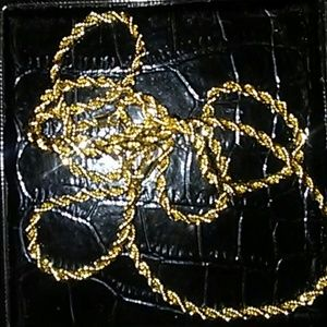 Other - New 14k plated diamond cut rope chain