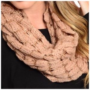 Accessories - Infinity Knit Scarf is both versatile and warm.