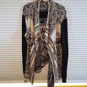 Beautiful Aztec inspired creme and black cardigan