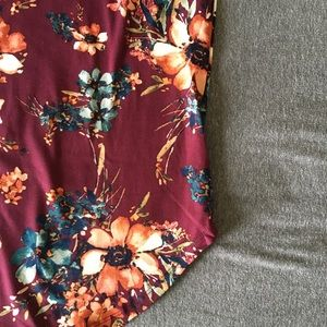 Tops - NEW Floral Ringer Tshirt
