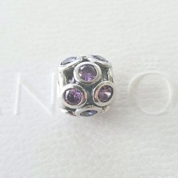 pandora jewelry purple cz whimsical lights charm poshmark