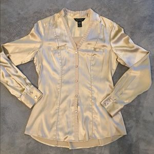 NWOT Silk Button Up Feminine Blouse by WHBM
