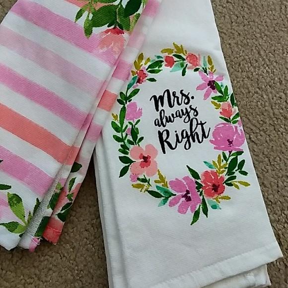 Mr. Right Mrs. Always Right Kitchen Towel Set