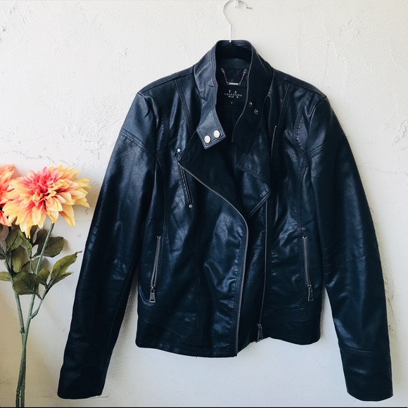 8448b261ce7529 coalition Jackets   Blazers - Coalition faux leather jacket - women s small