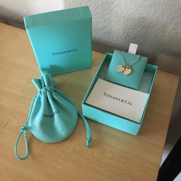 7e2ef2828 Tiffany & Co. Jewelry | Tiffany Co Mini Double Heart Tag Pendant ...
