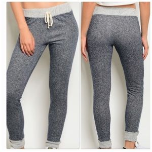 Pants - Charcoal High Waisted Fitted Joggers