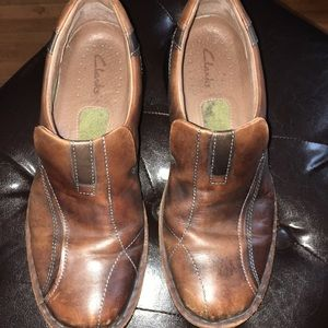 FINAL MARKDOWN!! Men's Clark leather loafers.