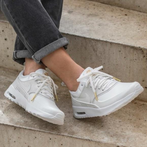 separation shoes dd535 1aa2d NWT Nike Air Max Thea premium Whitegold rare