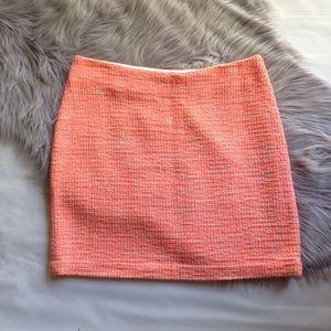 Madewell orange cream tweed mini skirt 6 neon