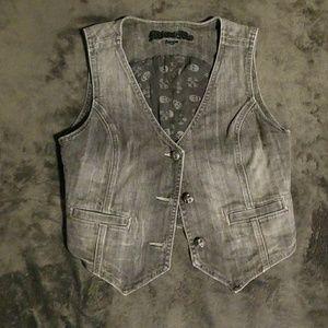 New Women's Miss Me Denim Vest