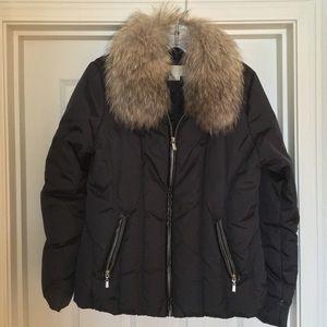 Michael Kors Raccoon fur collar puffer coat