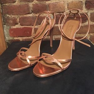 Aquazzura Copper Sandal Heels