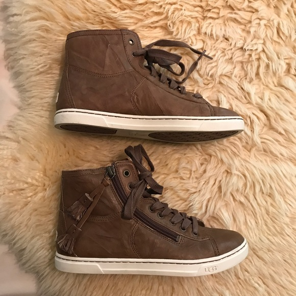 e34dca2a650 Ugg Blaney High Top Leather Sneakers