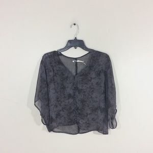 Urban Outfitters Kimchi Blue Sheer Printed Top