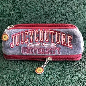 Juicy Couture-dual zip pencil case w/ ruler+eraser