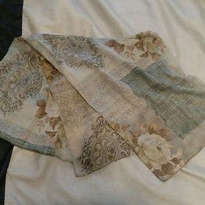 Sheer floral scarf