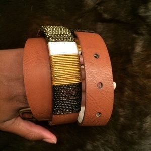 Lodis Cord Detail Leather Belt