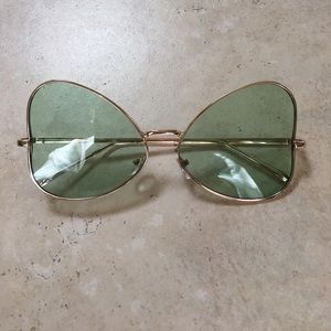 Urban Outfitters Green Butterfly Sunglasses