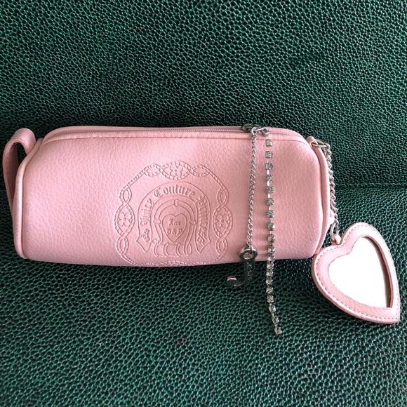 d2bda73ecb1 Juicy Couture Bags | Pink Zippered Makeup Bag With Mirror | Poshmark