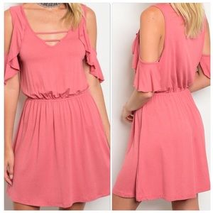 Dresses & Skirts - Mauve Cold Shoulder Dress